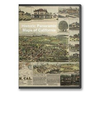 California CA - 51 Vintage Panoramic City Maps on CD - B141