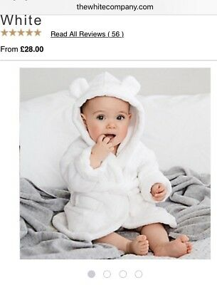 White Company Baby Dressing Gown 0-6 Months