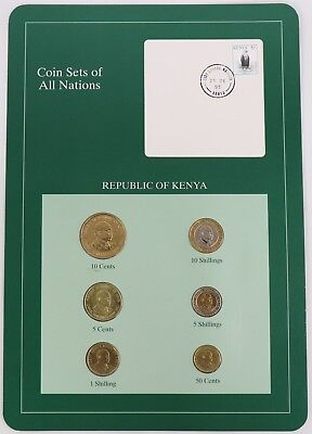 Republic of Kenya - Coin Sets of All Nations Franklin Mint Postal Panel