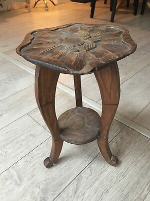 small arts and craft wooden stool
