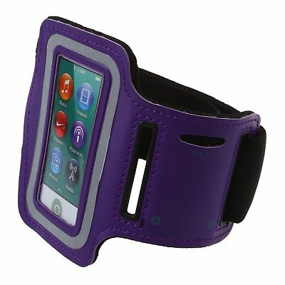 Sport Armband Fallhalter Running Arm Band fuer iPod nano 7,lila J4