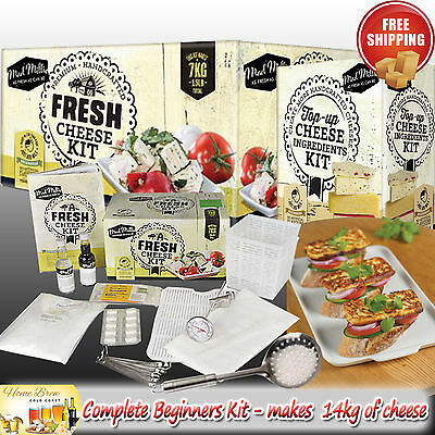 FRESH CHEESE MAKING KIT by MAD MILLIE *PLUS TOP-UP CHEESE KIT - MAKES 14KG TOTAL
