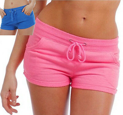 Terry Cloth Hot Shorts Booty Short w Drawstring Pink or Blue Juniors XS S TSP