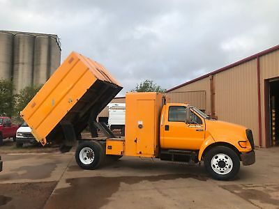 Ford F650 Chipper Dump Truck Diesel No Cdl Required Low Miles Runs Good 6 Seater