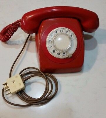 Red Retro Telephone hand set , complete with plug