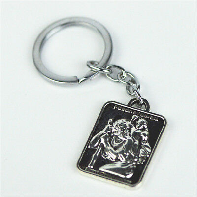 Ant.Silver Plated Religious St Christopher Keyring For Safety Traveling