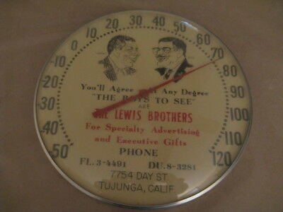 The Lewis Brothers Thermometer Advertising Specialty Co. Early One Of A Kind