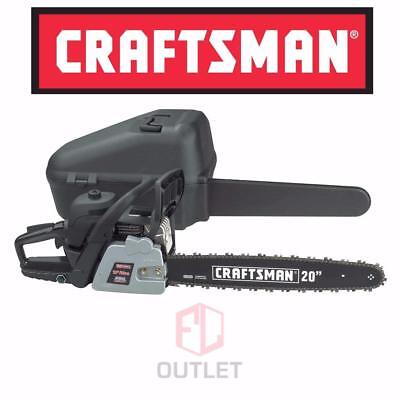 "NEW! Craftsman 50cc 2-Cycle 20"" Gas Chainsaw Anti-Vibration Handle N Case"