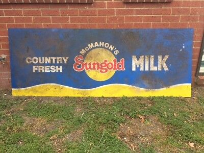"""2*Large Metal Sign """"McMahon's Sungold Milk"""""""