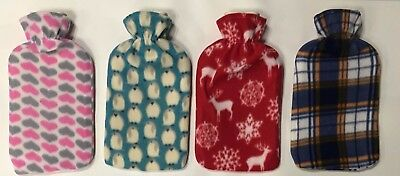 New Soft Warm 2Liter Large Hot Water Bottles With Removable Flower Fleece Cover