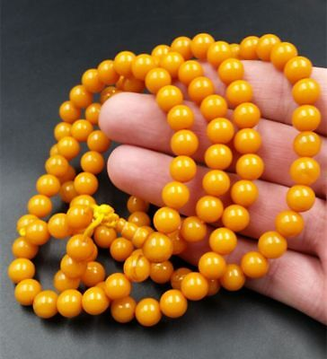Nature Baltic sea beautiful  amber old  beeswax fashion bracelet 108beads 72*