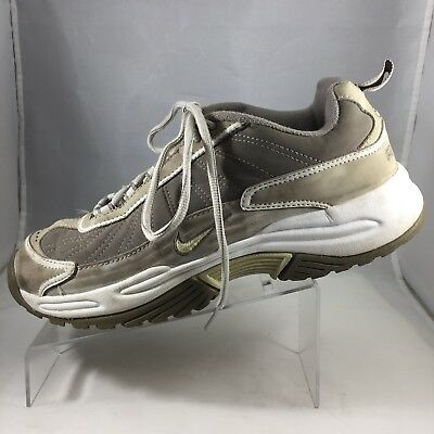 945dc48951ba25 Nike Air Womens Cross Training Shoes Size 9 Beige Tan Lace Up Athletic  Sneakers