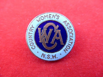 Vintage Country Womens Association NSW Badge