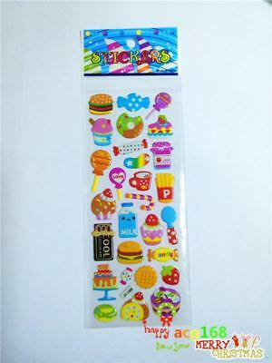 Xmas Stick 1pc Puffy Cartoon Stickers 3D PVC Cute Lot Craft Kid Party Toy Gift A