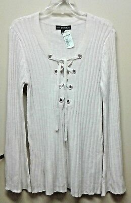 Rock & Republic size L bell sleeved sweater NWT cream color, soft