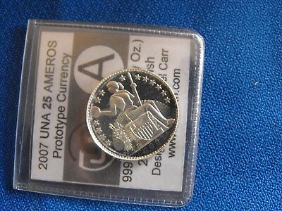 2007 Una 25 Ameros - Proof Finish - Daniel Carr - .999 Silver