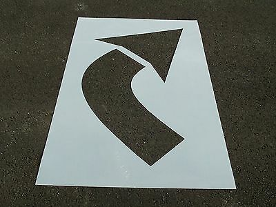 """48"""" Turning, Parking Lot Arrow Stencil MATCHING HEIGHT Re-Usable 1/16"""" Plastic"""