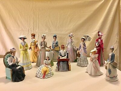 Vintage Avon Mrs Albee Presidents Club Porcelain Doll set of 12