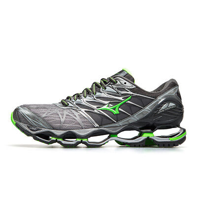 bf31e95957e6 Mizuno Wave Prophecy 7 Gray Silver Green Men Running Shoes New J1GC180037  17D