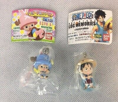 One Piece Anime Log Memories Keychain Figures Luffy And Chopperman Prizes