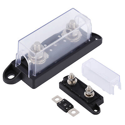 Auto Car ANL Fuse Holder Distribution INLINE Block For 0/2/4 Gauge Wire 250A