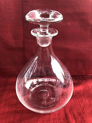 Vintage Beautiful Clear Glass Wine Decanter Bottle with Stopper