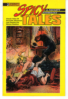 Spicy Tales 2 and 6 Eternity Productions Comic Books GGA Sally the Sleuth Malibu
