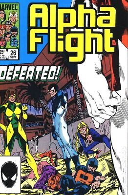 Alpha Flight (1st Series) #26 1985 FN Stock Image