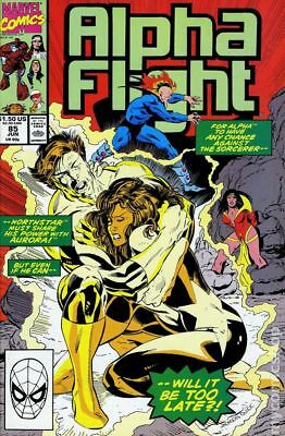 Alpha Flight (1st Series) #85 1990 FN Stock Image