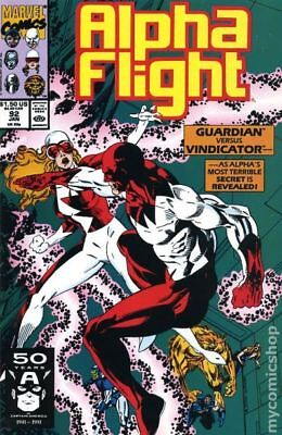 Alpha Flight (1st Series) #92 1991 FN Stock Image