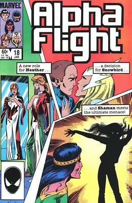 Alpha Flight (1st Series) Mark Jewelers #18MJ 1985 GD/VG 3.0 Stock Image