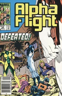 Alpha Flight (1st Series) Mark Jewelers #26MJ 1985 VG Stock Image Low Grade