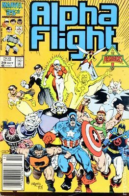 Alpha Flight (1st Series) Mark Jewelers #39MJ 1986 FN Stock Image