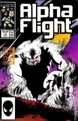 Alpha Flight (1st Series) Mark Jewelers #45MJ 1987 VG+ 4.5 Stock Image Low Grade