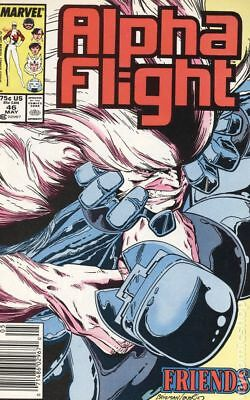 Alpha Flight (1st Series) Mark Jewelers #46MJ 1987 FN Stock Image
