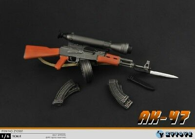 "ZY TOYS AK-47 Assault Rifle Set 1/6 Fit for 12"" actIon figure"