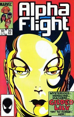 Alpha Flight (1st Series) #20 1985 VG Stock Image Low Grade