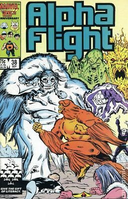 Alpha Flight (1st Series) #38 1986 FN Stock Image