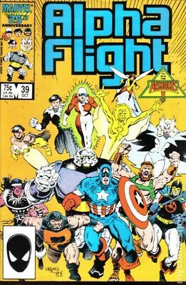 Alpha Flight (1st Series) #39 1986 FN Stock Image
