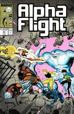 Alpha Flight (1st Series) #61 1988 FN Stock Image