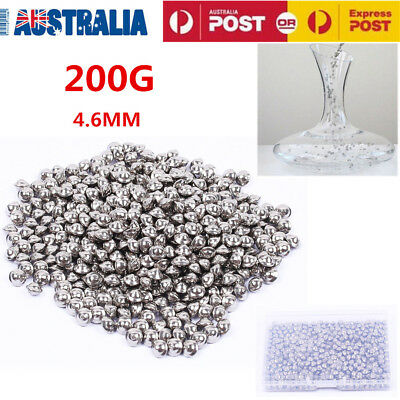 200g Decanter Cleaning Balls Stainless Steel Wine Cleaner Glass Bottle Bead AU
