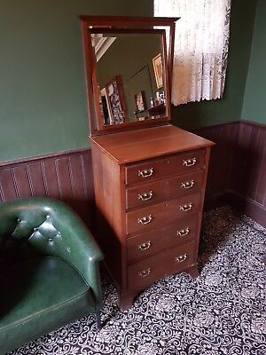 Antique dressing table narrow chest of drawers Maple & Co Victorian Edwardian