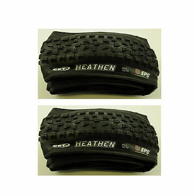 2 x Raleigh CST HEATHEN KNOBBLY MTB MOUNTAIN BIKE TYRES 26 x 2.25 FOLDING T8014