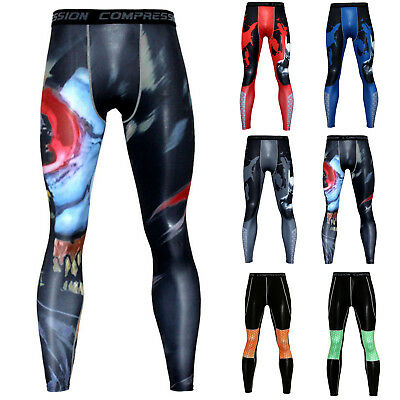 Mens Skin Tight Compression Base Layer Running Pants Sports Gym Workout Leggings