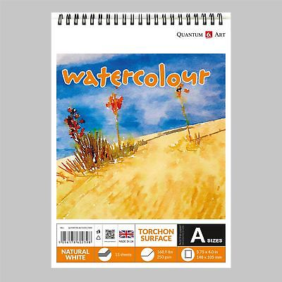 Watercolour TORCHON Surface Pad Drawing Artist Paper on Spiral Book - 250gsm