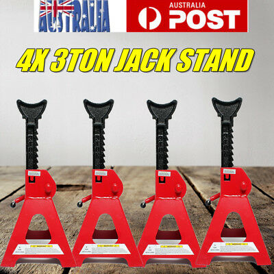 4PCS 3 Ton Axle Stands Lifting Ccapacity Stand Heavy Duty Car Caravan Floor Jack