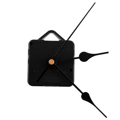 Hot Quiet Vintage Retro Quartz Clock Movement Black Hands Parts Set DIY