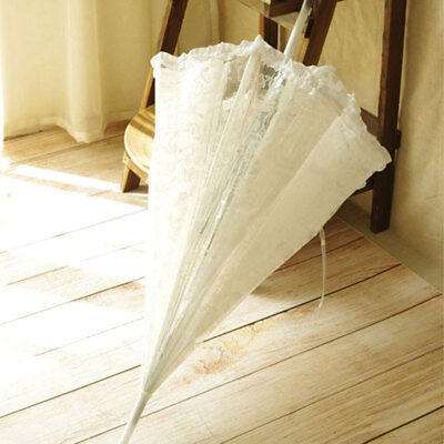 Lace Umbrella Bridal Princess 23 Inch Dome Frilly Wedding Decorations Parasols