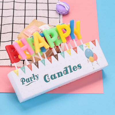 HAPPY BIRTHDAY Letter Candle Cake Topper Baking Gift Supplies Decoration
