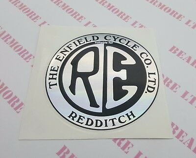 Royal Enfield Sticker Logo Badge Bullet Classic Tb Electra 105Mm Round